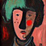 Автопортрет в молодости х.м. 37х30 1996
