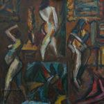 В мастерской художника-II х.м. 120х130 1990