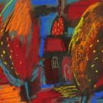 Декоративный пейзаж б.см.тех. 18х24 1999