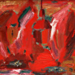 Красный пейзаж х.м. 54х60 1996