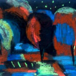 Ночной пейзаж б.см.тех. 23х30 1999