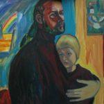 Памяти отца х.м. 78,5х90 2006