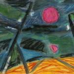Розовая лун б.см.тех. 40х55 2006